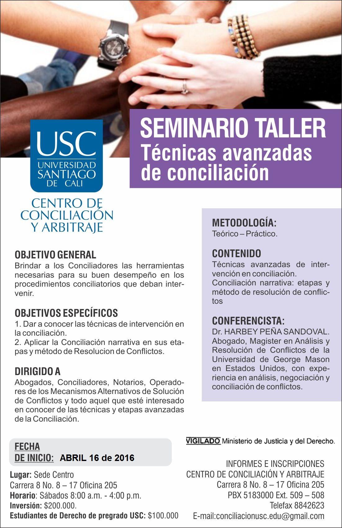 Seminario Taller en Técnicas Avanzadas deConciliación