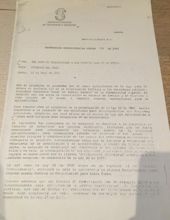 Instruccion 014 1992-1