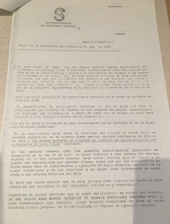 Instruccion 014 1992-2