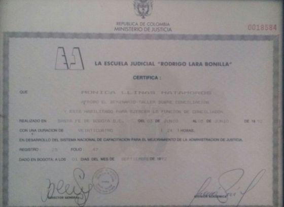 Certificado EJRLB