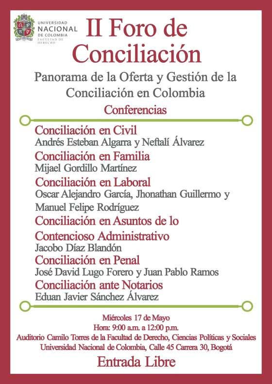 II Foro de Conciliacion