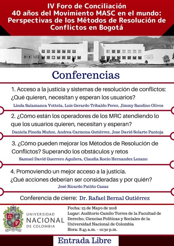 Afiche IV Foro de Conciliacion